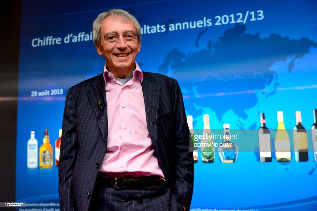 Pernod Ricard group's vice-president and General Director Pierre Pringuet poses before a press conference to present the results for the 2012-2013 financial year, on August 29, 2013 in Paris. Pernod Ricard, the world No. 2 maker of wine and distilled spirits, on Thursday met its targets by posting a 3.0-percent rise in full-year net profits.