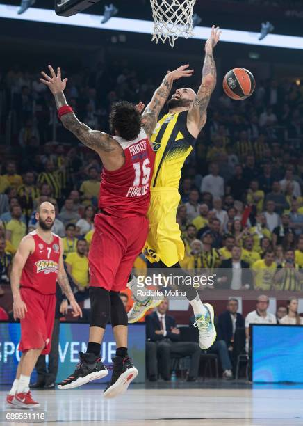 Pero Antic #12 of Fenerbahce Istanbul in action during the Championship Game 2017 Turkish Airlines EuroLeague Final Four between Fenerbahce Istanbul...