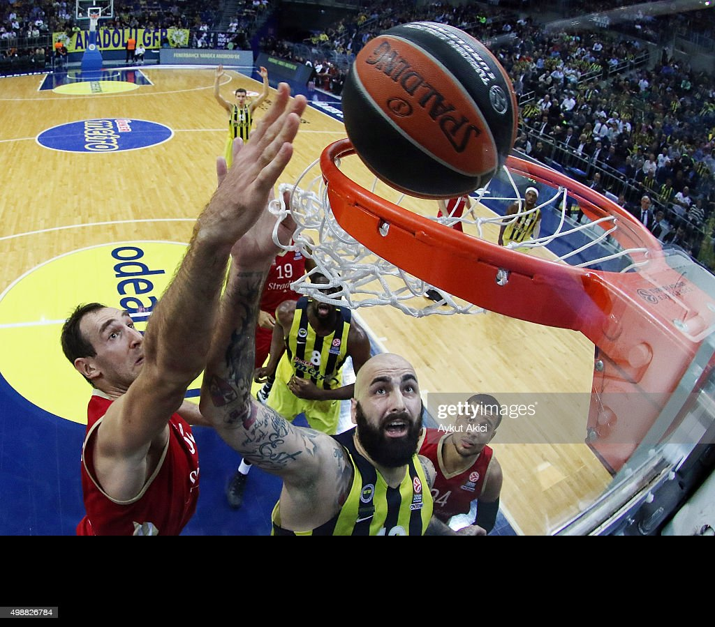Pero Antic, #12 of Fenerbahce Istanbul in action during the Turkish Airlines Euroleague Regular Season Round 7 game between Fenerbahce Istanbul v Strasbourg at Ulker Sports Arena on November 26, 2015 in Istanbul, Turkey.