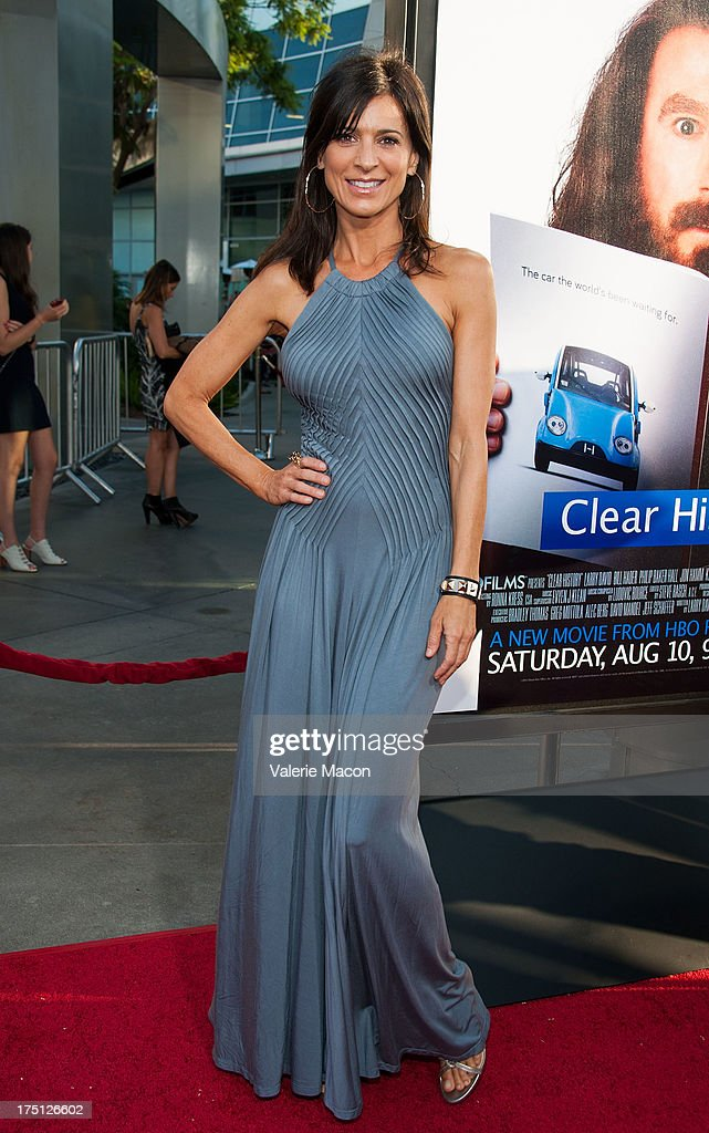 Perrey Reeves arrives at the Premiere Of HBO Films' 'Clear History' at ArcLight Cinemas Cinerama Dome on July 31, 2013 in Hollywood, California.