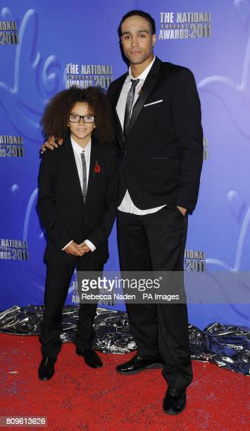 Perri Kiely and Ashley Banjo from Diversity arriving for The National Lottery Awards 2011 at the London Studios celebrating the UK's best...