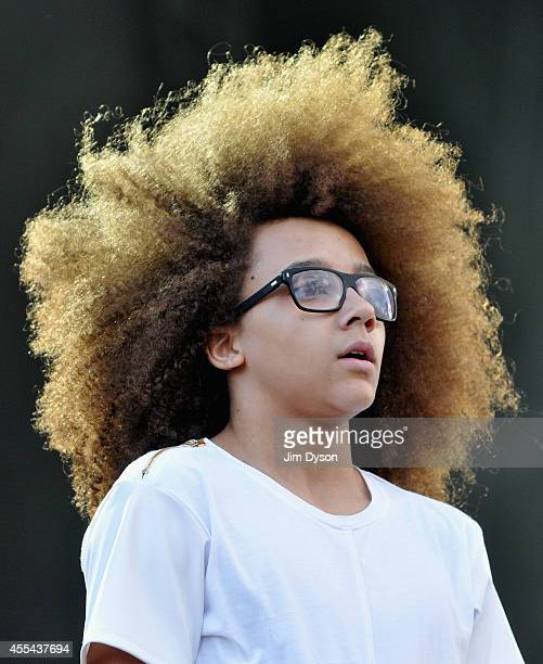 Perri Kiely and Diversity perform onstage during the Invictus Games Closing Concert at the Queen Elizabeth Olympic Park on September 14 2014 in...