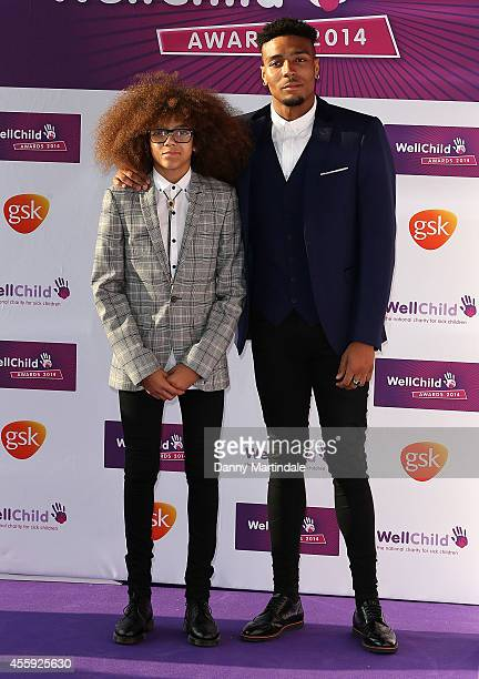 Perri Kiely and Jordan Banjo attends the WellChild Awards at London Hilton on September 22 2014 in London England