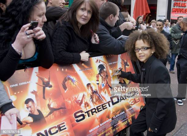 Perri Luc Kiely arriving for the Premiere of StreetDance 3D at the Empire Leicester Square in London