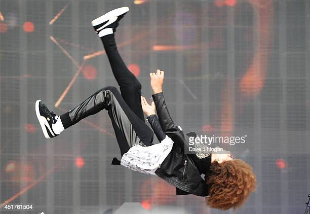 Perri Luc Kiely of Diversity performs on stage at British Summer Time Festival at Hyde Park on July 6 2014 in London United Kingdom