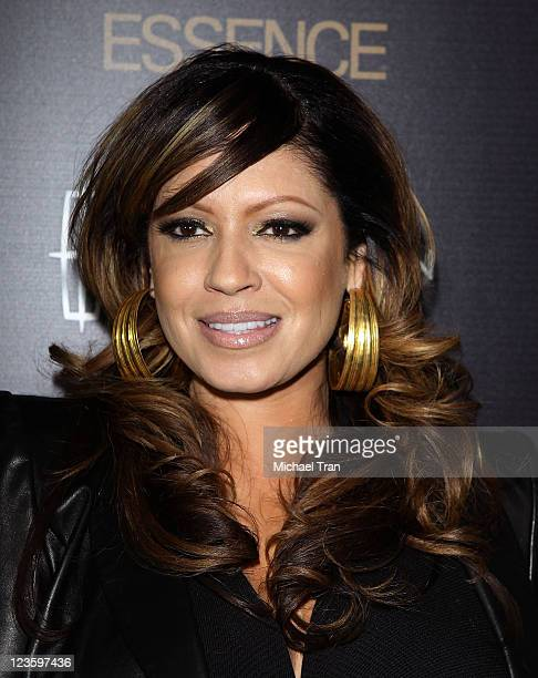 Perri 'Pebbles' Reid arrives at the ESSENCE 2nd Annual Black Women in music reception honoring Janelle Monae held at Playhouse Hollywood on February...