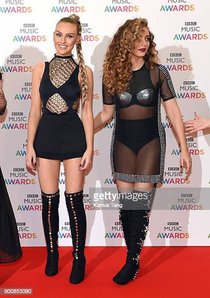 Perrie Edwards and Jade Thirlwall of Little Mix attend the BBC Music Awards at Genting Arena on December 10 2015 in Birmingham England