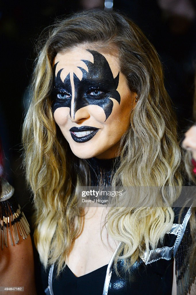 Perrie Edwards attends the KISS FM Haunted House Party at SSE Arena on October 29 2015 in London England