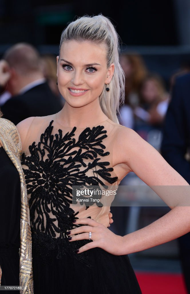Perrie Edwards attends the World Premiere of 'One Direction This Is Us' at Empire Leicester Square on August 20 2013 in London England