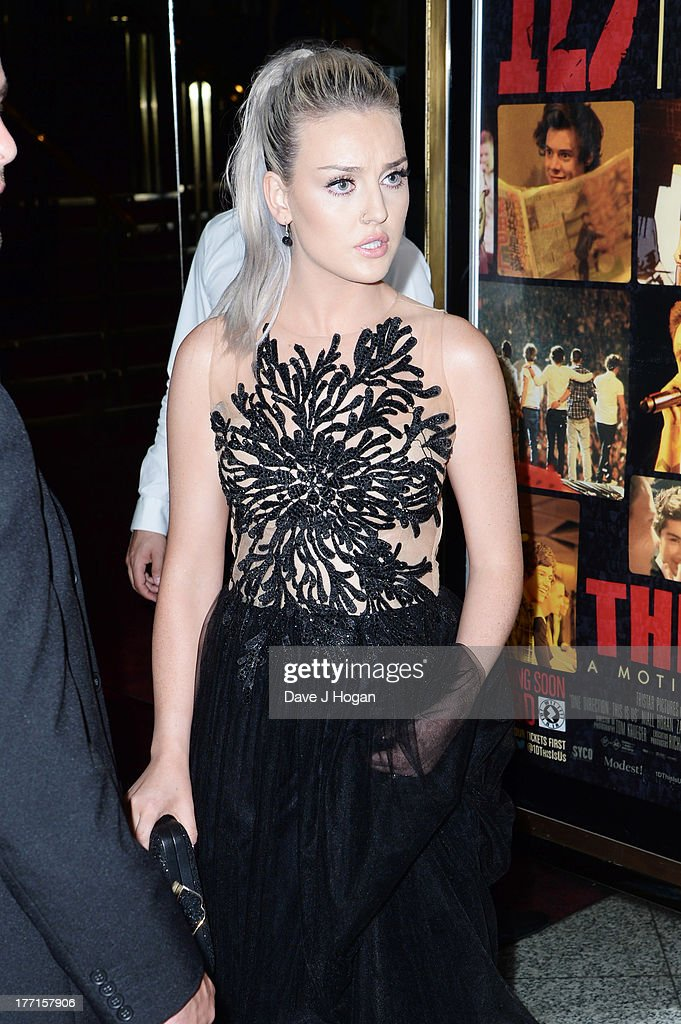 Perrie Edwards attends the world premiere of 'One Direction - This Is Us' at The Empire Leicester Square on August 20, 2013 in London, England.