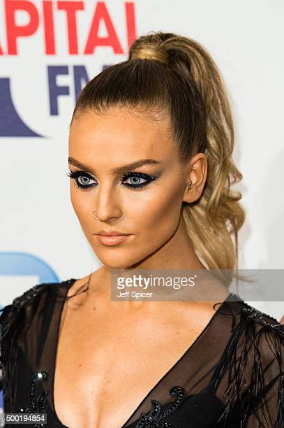 Perrie Edwards from Little Mix attends the Jingle Bell Ball at The O2 Arena on December 6 2015 in London England