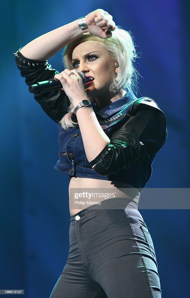 Perrie Edwards from Little Mix performs at the Cheerios Childline concert at 02 on November 24, 2012 in Dublin, Ireland.