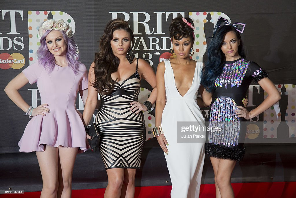 Perrie Edwards, Jesy Nelson, Leigh-Anne Pinnock, and Jade Thirlwall of Little Mix, attend the Brit Awards 2013 at the 02 Arena on February 20, 2013 in London, England.
