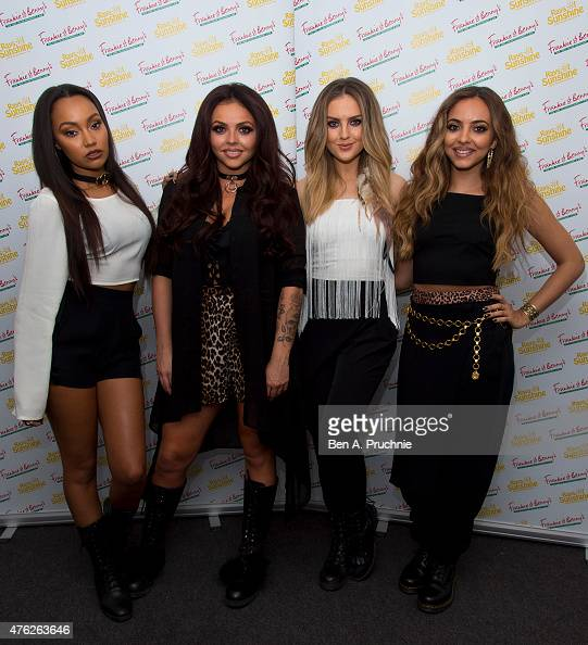 Perrie Edwards Jesy Nelson LeighAnne Pinnock and Jade Thirlwall of Little Mix attends the Frankie and Benny's Rays of Sunshine Concert at the Royal...