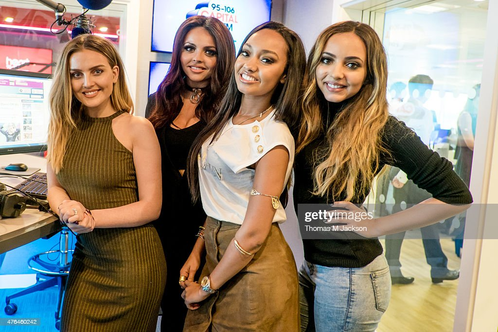 Perrie Edwards Jesy Nelson LeighAnne Pinnock and Jade Thirlwall of Little Mix pose for portraits ahead of their performance at Wellbar Centre on June...
