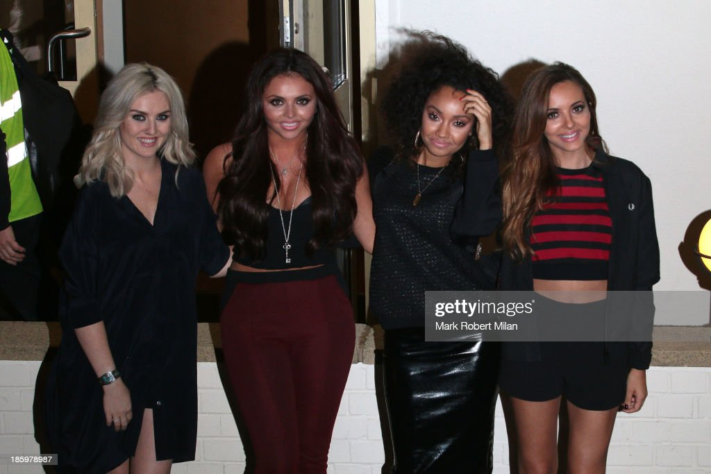 <a gi-track='captionPersonalityLinkClicked' href=/galleries/search?phrase=Perrie+Edwards&family=editorial&specificpeople=8378323 ng-click='$event.stopPropagation()'>Perrie Edwards</a>, <a gi-track='captionPersonalityLinkClicked' href=/galleries/search?phrase=Jesy+Nelson+-+Little+Mix&family=editorial&specificpeople=8378192 ng-click='$event.stopPropagation()'>Jesy Nelson</a>, <a gi-track='captionPersonalityLinkClicked' href=/galleries/search?phrase=Leigh-Anne+Pinnock&family=editorial&specificpeople=8378207 ng-click='$event.stopPropagation()'>Leigh-Anne Pinnock</a> and <a gi-track='captionPersonalityLinkClicked' href=/galleries/search?phrase=Jade+Thirlwall&family=editorial&specificpeople=8378191 ng-click='$event.stopPropagation()'>Jade Thirlwall</a> leaving Fountain Studios after filming the X Factor live show on October 26, 2013 in London, England.