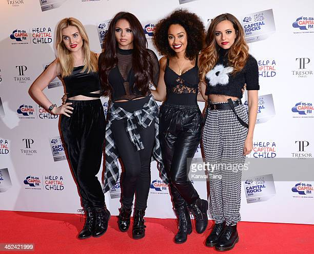 Perrie Edwards Jesy Nelson LeighAnne Pinnock and Jade Thirwall of Little Mix attend the annual 'Capital Rocks' concert in aid of the 'Help a Capital...