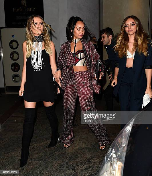 Perrie Edwards Leigh Anne Pinnock and Jade Thirlwall attend Wonderland Magazine's 10th Anniversary Party at Drama night club in Mayfair on September...