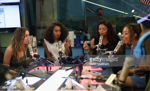 Perrie Edwards LeighAnne Pinnock Jesy Nelson and Jade Thirlwall of Little Mix perform on 'The Elvis Duran Z100 Morning Show' at Z100 Studio on August...