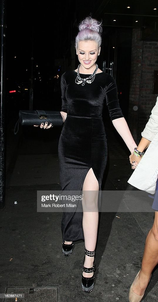 <a gi-track='captionPersonalityLinkClicked' href=/galleries/search?phrase=Perrie+Edwards&family=editorial&specificpeople=8378323 ng-click='$event.stopPropagation()'>Perrie Edwards</a> of Little Mix at Mahiki night club on February 28, 2013 in London, England.