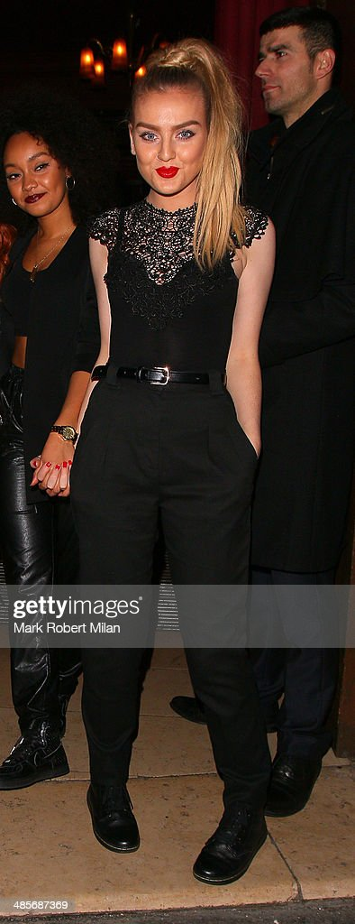 Perrie Edwards of Little Mix at Steam and Rye bar and restaurant on April 19, 2014 in London, England.