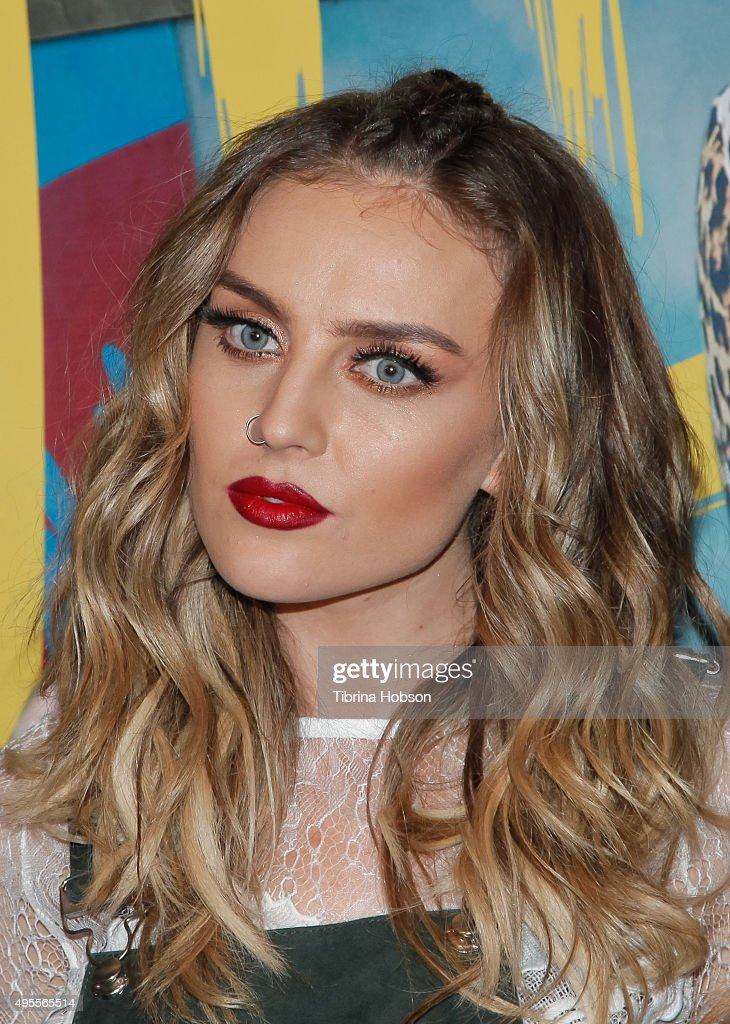 Perrie Edwards of Little Mix attends the Los Angeles album signing for Little Mix at Hard Rock Cafe Hollywood CA on November 3 2015 in Hollywood...