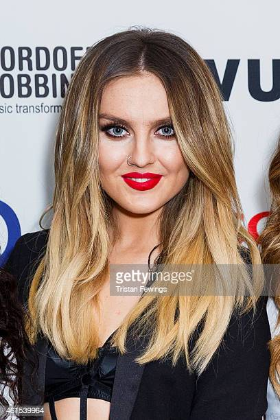 Perrie Edwards of Little Mix attends the Nordoff Robbins Six Nations Championship Rugby Dinner at The Grosvenor House Hotel on January 14 2015 in...