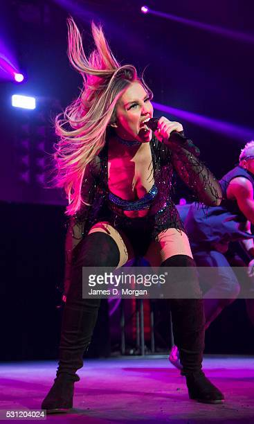 Perrie Edwards of Little Mix performs at Qudos Bank Arena on May 13 2016 in Sydney Australia