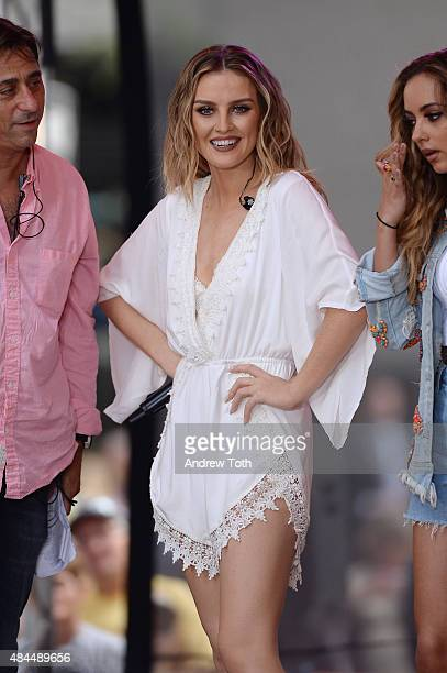 Perrie Edwards of Little Mix performs on NBC's 'Today' at Rockefeller Plaza on August 19 2015 in New York City
