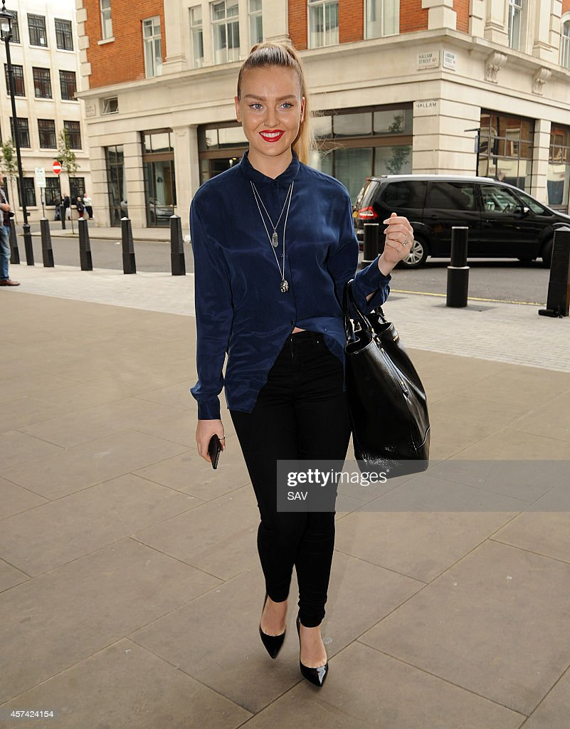 Perrie Edwards sighting at Radio 1 on October 18 2014 in London England