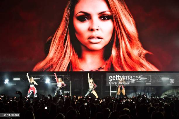Perrie Louise Edwards Jessica Louise Nelson LeighAnne Pinnock and Jade Amelia Thirlwall of the British band Little Mix perform live on stage during a...