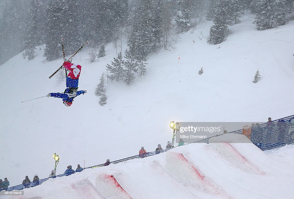 Perrine Laffont of France competes during qualifying for the Womens Moguls at the 2014 FIS Freestyle Ski World Cup at Deer Valley on January 9, 2014 in Park City, Utah.