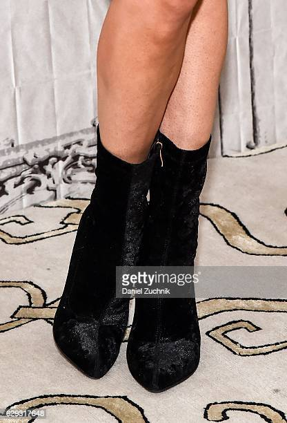 Perry boots detail attends AOL Build to discuss her show 'Total Diva's' at AOL HQ on December 12 2016 in New York City