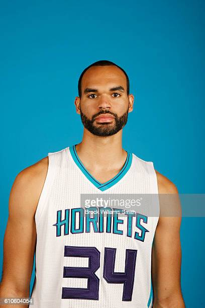 Perry Ellis of the Charlotte Hornets poses for a head shot during the 20162017 Charlotte Hornets Media Day at the Time Warner Cable Arena on...
