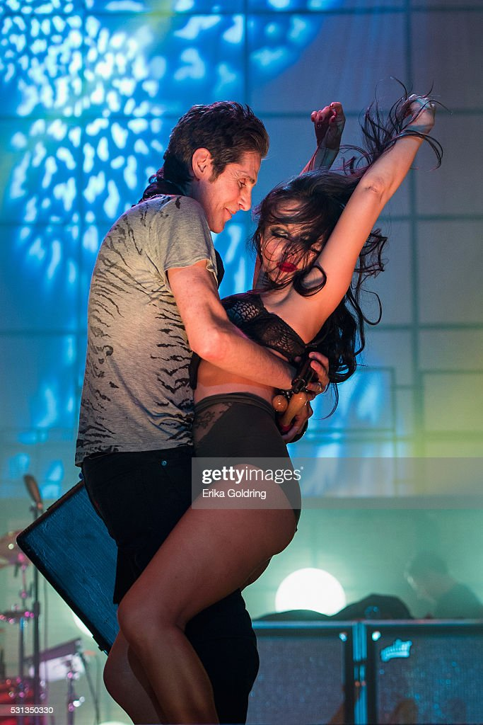 Perry Farrell and Etty Lau Farrell of Jane's Addiction perform at Centennial Olympic Park on May 13 2016 in Atlanta Georgia