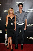 DJ Perry Farrell and wife Etty Lau Farrell arrive to the launch party of Fallout 3 a new video game at Los Angeles Center Studios