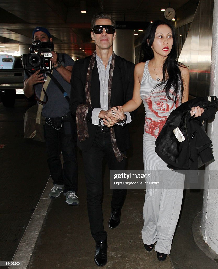 Perry Farrell is seen at LAX Airport in Los Angeles Ca on October 26 2015 in Los Angeles California
