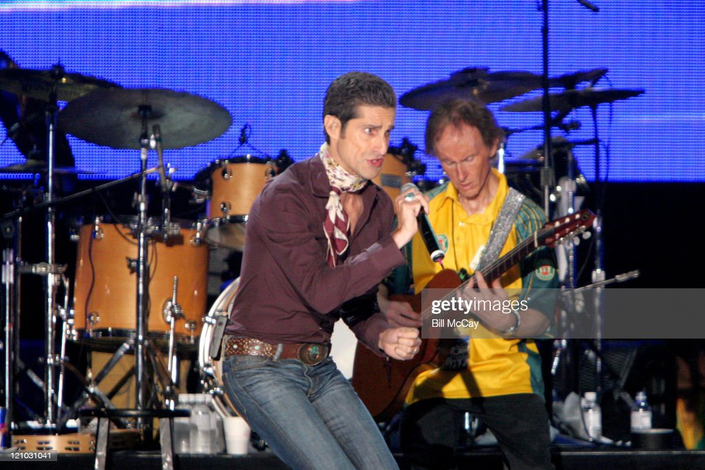 Perry Farrell, lead singer of Jane's Addiction, and Robby Krieger, founding member of the Doors