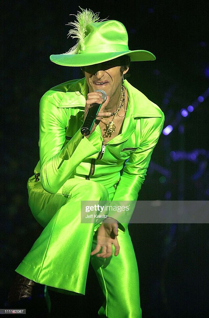 Perry Farrell of Jane's Addiction during 2001 KROQ Weenie Roast in Irvine California United States