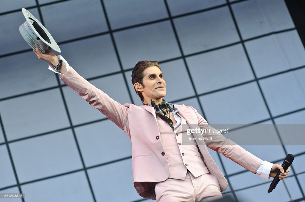Perry Farrell of Jane's Addiction perform on day 3 of Lollapalooza at Grant Park on July 30 2016 in Chicago Illinois