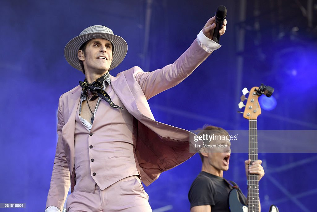 Perry Farrell of Janes Addiction performs during Lollapalooza at Grant Park on July 30 2016 in Chicago Illinois