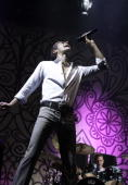 Perry Farrell of Jane's Addiction performs live at Gelredome on June 9 2010 in Arnhem Netherlands