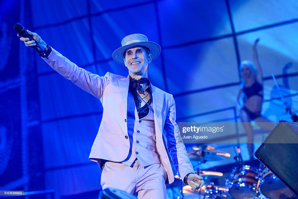 Perry Farrell of Jane's Addiction performs on stage at Madcool Festival on June 17 2016 in Madrid Spain