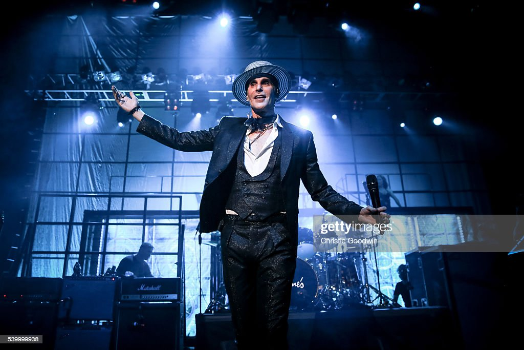 Perry Farrell of Jane's Addiction performs on stage at O2 Forum Kentish Town on June 13 2016 in London England