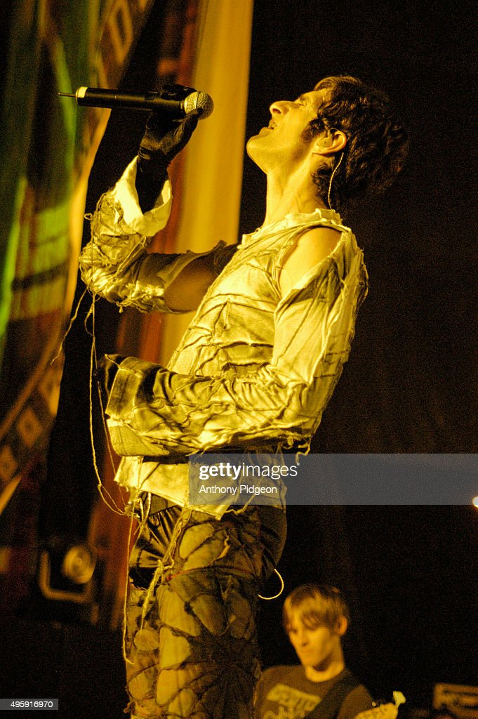 Perry Farrell of Janes Addiction performs onstage at Shoreline Ampitheater in Mountain View California USA on 19th August 2003