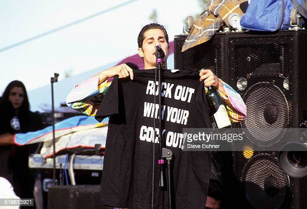 Perry Farrell of Porno for Pyros performs at Lifebeat benefit Big Bear California March 12 1995
