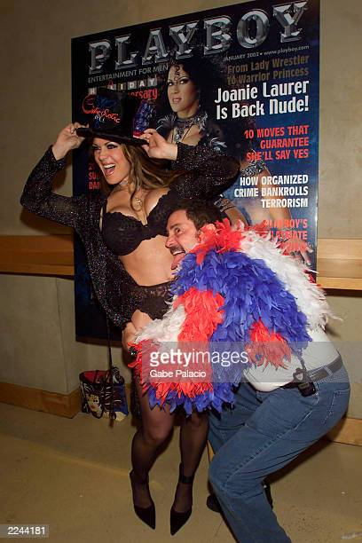 Perry Mann Cofounder of the Exotic Erotic Ball joins Joanie Laurer who formerly played the character Chyna for the WWF at the Virgin Mega Store in...