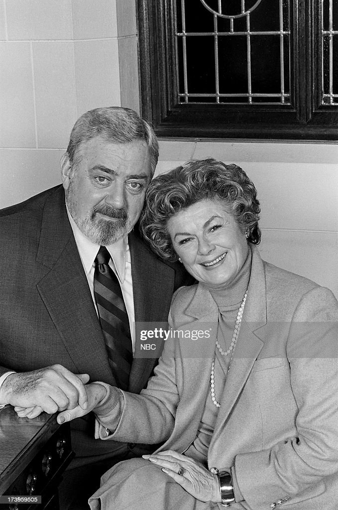 Perry Mason The Case of the Notorious Nun Pictured Raymond Burr as Perry Mason and Barbara Hale as Della Street