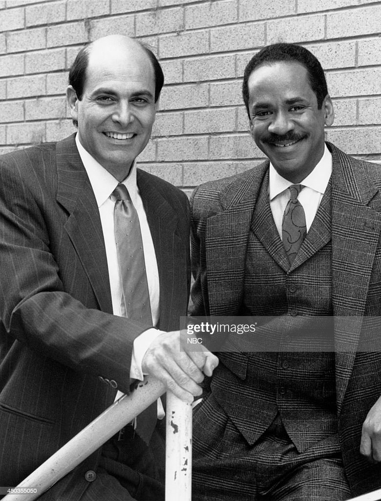 MOVIES -- 'Perry Mason: The Case of the Silenced Singer' -- Pictured: (l-r) Alan Rachins, Tim Reid --