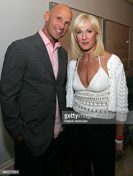 Perry Rubenstein and Jennifer Edelman attend Kent and Liz Swig Host a Dinner In Honor of Artist Gary Hume at Kent and Liz Swig Duplex on September 22...